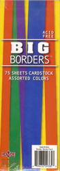 75 Sheets Cardstock, Assorted Colors - NEW, PAK09385
