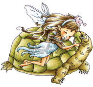 FAIRY Stamp Turtle Lov Cling Unmounted Rubber Stamp Little Darlings 2002 New