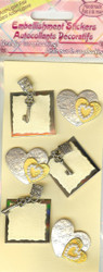 Square Lock and Key Stickers