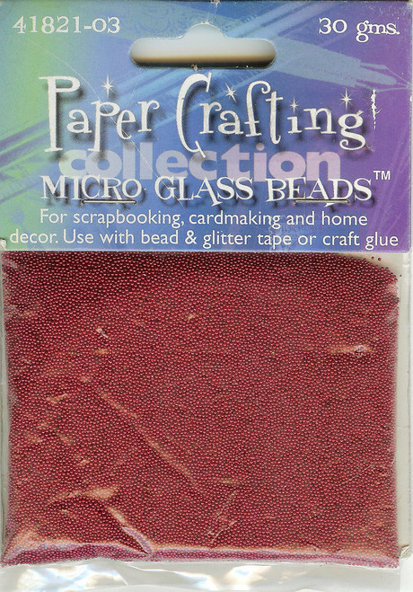 Red Micro Glass Beads