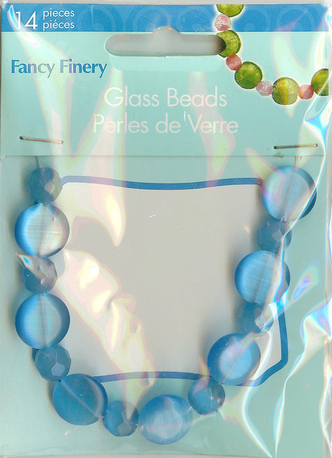 Blue Round and Disc Beads