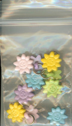 Pastel Flower Beads, Jewelry - NEW, Dna