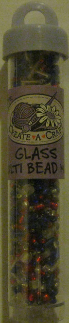 Red White Blue Glass Beads