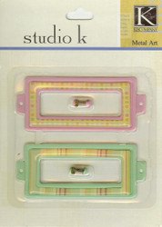 Studio K Pink & Green Journal Tags