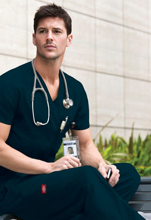 a5da5ae8638 Dickies Men's EDS Signature V-Neck Scrub Top (Style #81906). Your Price:  $11.99 (You save $12.00). Image 1