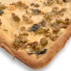 Grean Olives Focaccia Bread