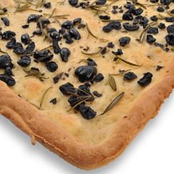Black Olives Focaccia Bread