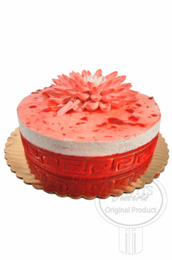 Strawberry 8 Inch Deluxe Cake