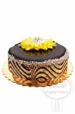 Walnut Flake 8 Inch Deluxe Cake