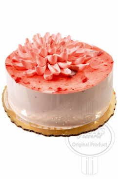 Strawberry Mirror 6 Inch Deluxe Cake