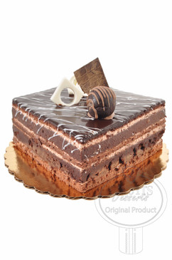 Truffle Square 6 Inch Deluxe Cake