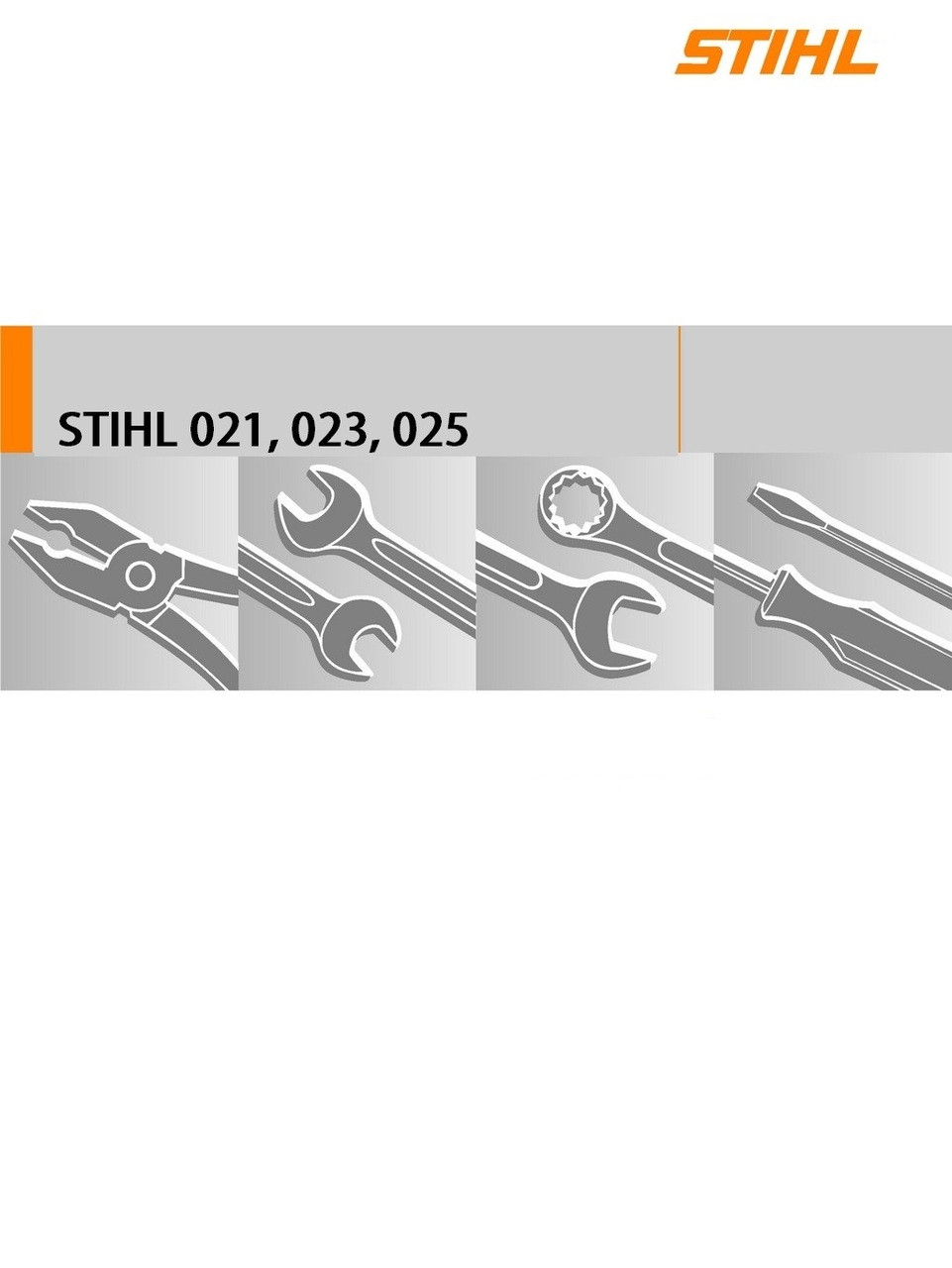 ... Chainsaw; Download Service Manual For Stihl 021, 023, 025. Image 1