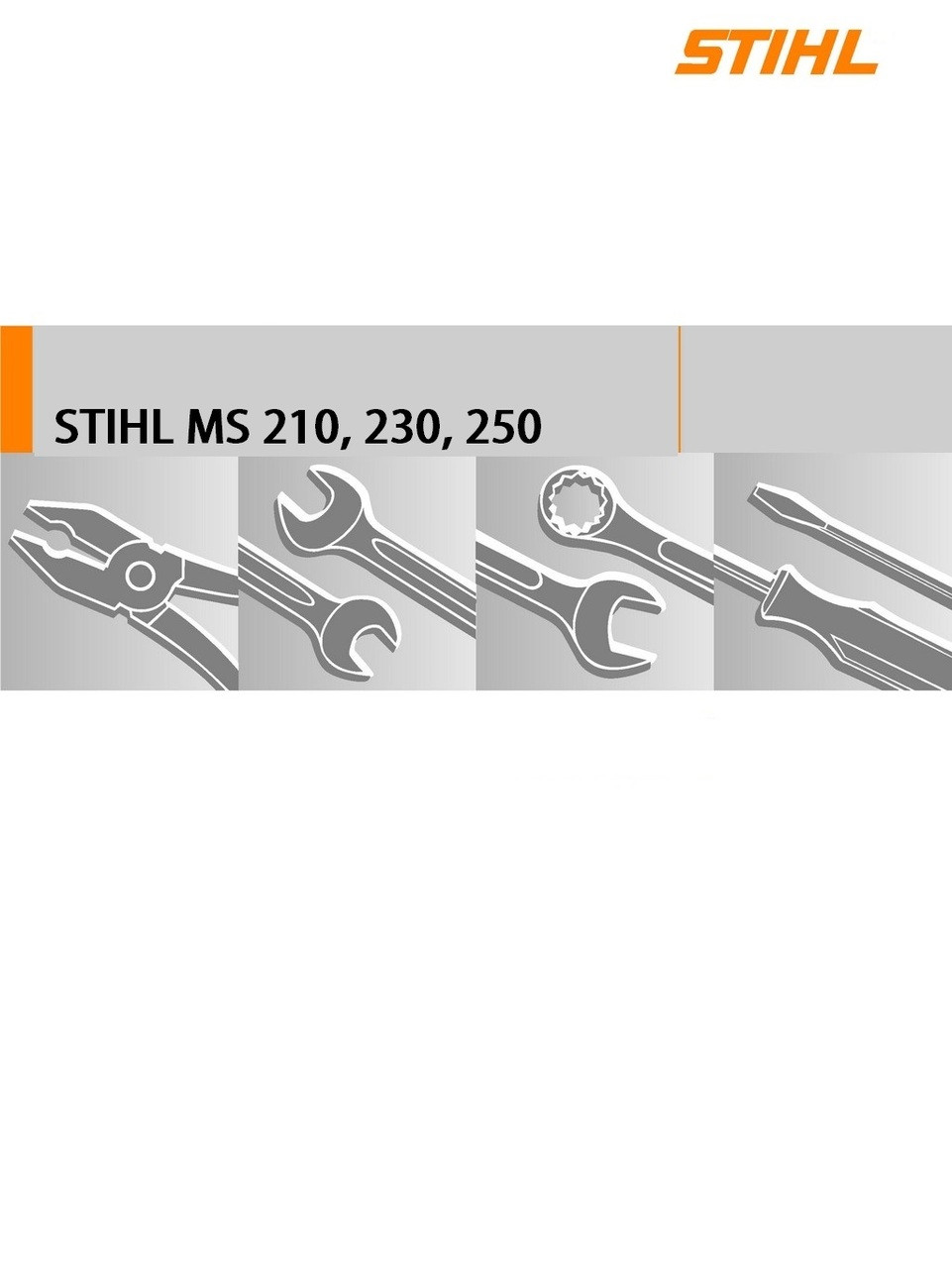 Download Service Manual For Stihl MS210, 230, 250