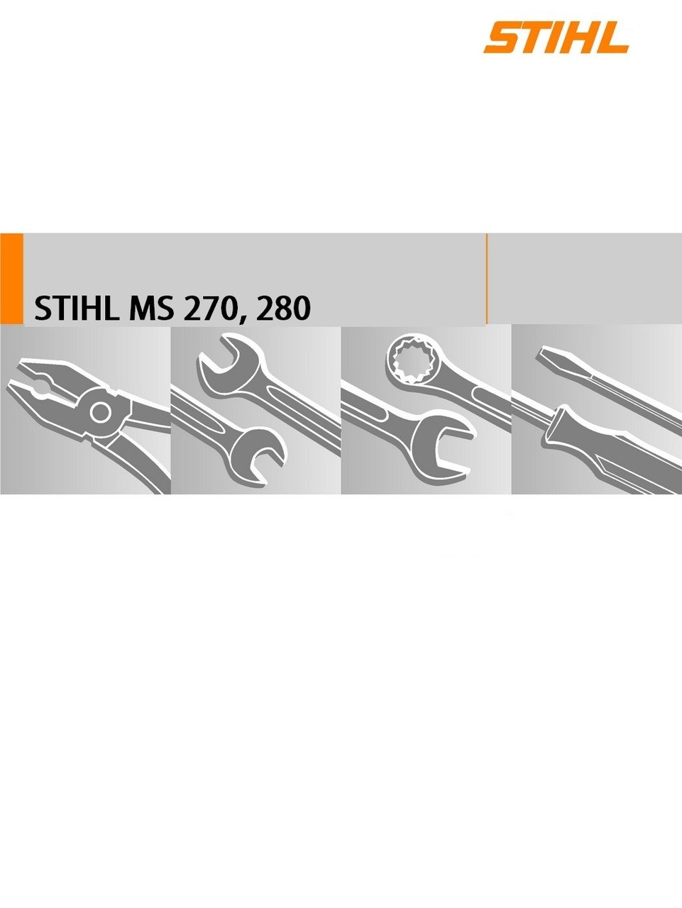 ... Chainsaw; Download Service Manual For Stihl MS270, 280. Image 1