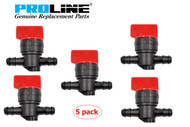 Proline® 5 pack Fuel Shut Off Valve For Briggs And Stratton Replaces OEM 698183