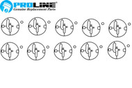 Proline® Carburetor Bowl Gasket 10 pack  For Briggs And Stratton 698781 Nikki