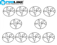 Proline® Carburetor Bowl Gasket  10pack  For Briggs And Stratton 695426  Nikki