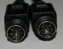 Mini Din 8 pin Male Male Black 10 ft Cable