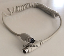 Apple Mac Macintosh Coiled Keyboard Cable 4 pin MM ADB NEW 12 ft