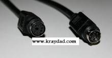 Mini Din 6 Pin Male Female 6 Foot Cable Black Color