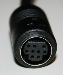 Substitute for Mini Din 9 pin B type 6 ft Male to Female Black Extension Cable
