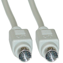 Apple/Mac Serial Device Cable 8 pin mini din male-male 6 ft