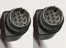 9 pin Mini din Male Male A Type Non B Cord Cable 15 ft Black Color