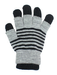 G4101 - Winter Striped Convertible Gloves