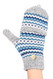 G5246 High quality Chevron Flip top Fingerless Mitten Gloves with Split Thumb Grey
