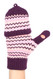 G5246 High quality Chevron Flip top Fingerless Mitten Gloves with Split Thumb Purple