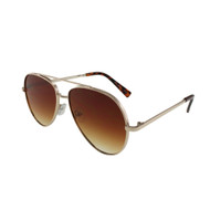5019 - Luxury Metal Framed Aviator Sunglasses ONE DOZEN / ASSORTED COLORS