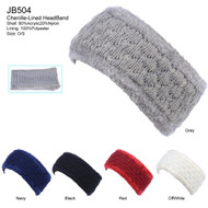 JB504 - Solid Color Knit Headband Pack
