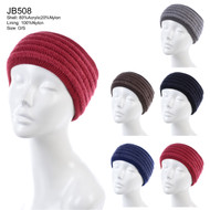 JB508 - Solid Color Knit Headband Pack