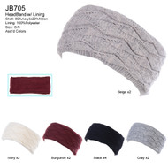 JB705 - Solid Color Knit Headband Pack