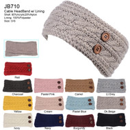 JB710 - Solid Color Knit Headband Pack