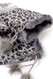 G4103- Winter Animal Print Fingerless Gloves With  Rabbit Fur Gray