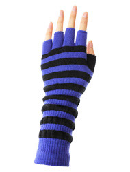 G2117- Winter Striped Fingerless Arm warmer Gloves Assorted Colors