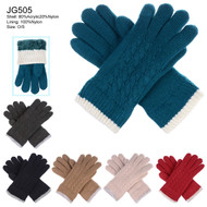 JG505 - Knit Twist Pattern Gloves 12prs Pack