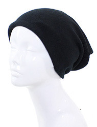 H4222-BK  Winter  Neck Warmer / Beanie Combo ( Black )