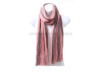 Wholesale Winter Scarf S5220 Two Tone Open Knit Oblong Scarf Pre-Assorted Wholesale Dozen Black, Dusty Pink, Navy, Gray, Khaki