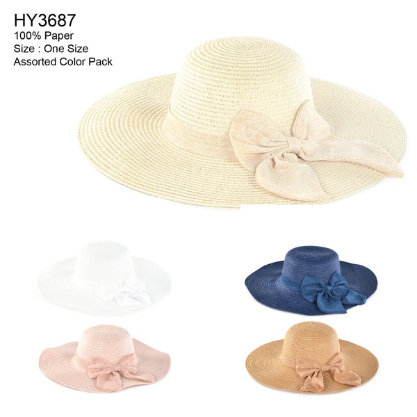 4e0b96a92d16e6 Ladies Lightweight Sophisticated White Straw Packable Roll-up Wrap Brim  Visor Travel Sun Hat (Wholesale Piece)