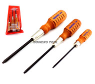Grace 3pc Square Robertson Wood Handle Screwdriver Set USA Made