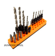 Mechanics Time Saver 37 Slot 1/4 in Magnetic Hex Bit Holder Organizer MTS USA 2