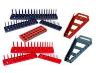Hansen 9pc Socket Tray Wrench Rack Organizer Set Metric SAE USA