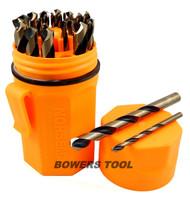 Norseman 29 pc HI-Molybdenum M7 Drill Bit Set Orange Case 1/16-1/2 USA SP-29PON