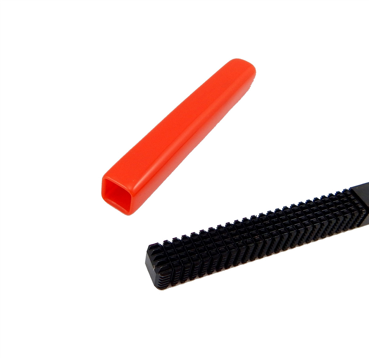 Jawco Red Vinyl File Handle Grip for 7/16in  Square Files Fits All Brands  USA