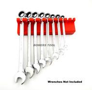 Mechanics Time Saver 10 Slot Magnetic Wrench Rack Holder Caddy SAE MTS USA