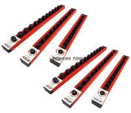 Mechanics Time Saver 1/4 3/8 1/2 in Drive Lock A Socket Rail Rack MTS USA Made 1