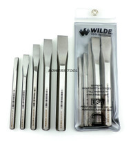 Wilde Tool 5pc Cold Chisel Set Made in USA w Pouch