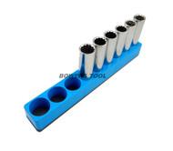 Mechanics Time Saver 1/2 Drive Magnetic Socket Holder Metric Organizer MTS USA
